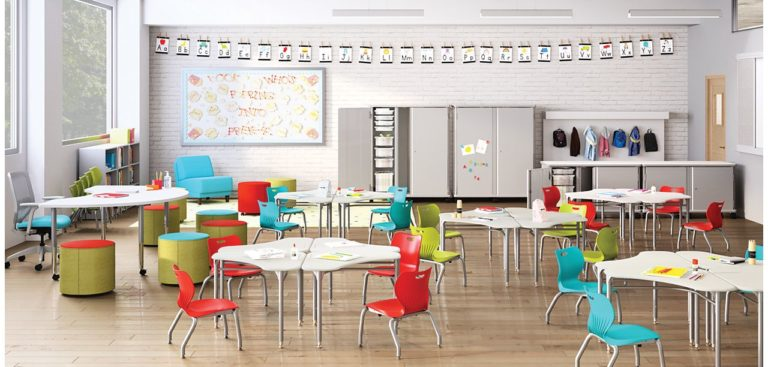 hon flock desks and chairs for collaborative future-ready classroom