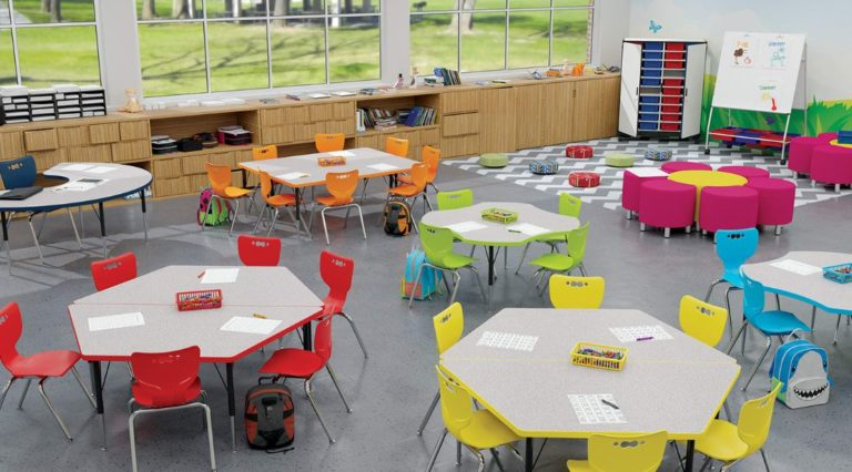 mooreco active classroom with soft seating and storage