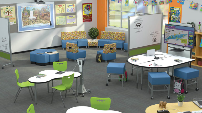 mixed use media classroom modern learning environment
